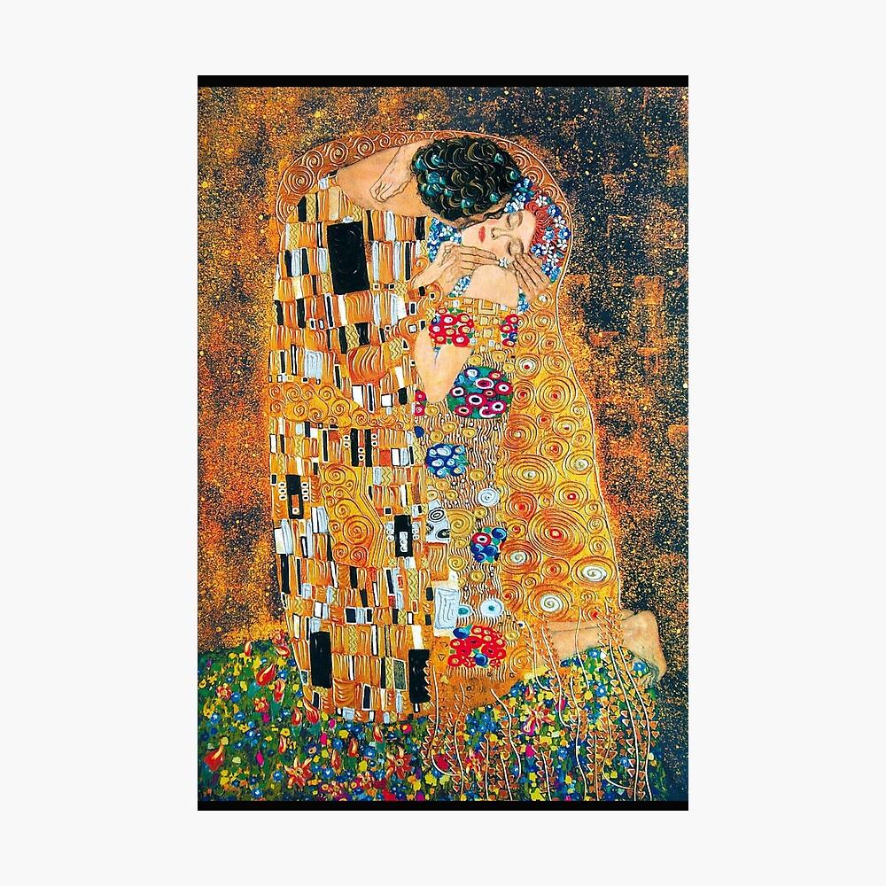 Gustav Klimt - Der Kuss Fotodruck