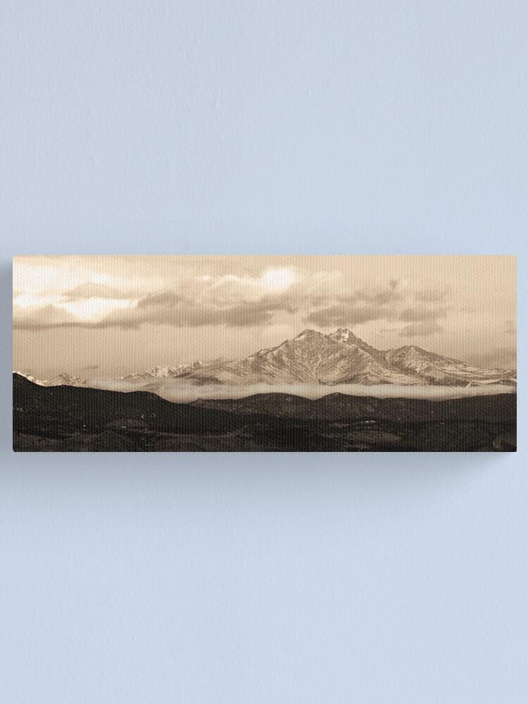 Alternate view of Meeker - Longs Peak - Sepia Panorama Canvas Print