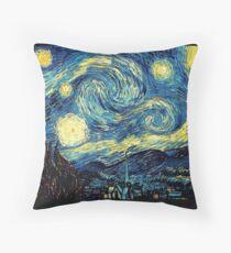 Vincent Van Gogh - Starry night  Throw Pillow
