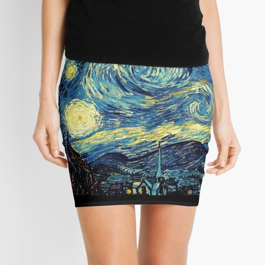 Vincent Van Gogh - Sternennacht Minirock