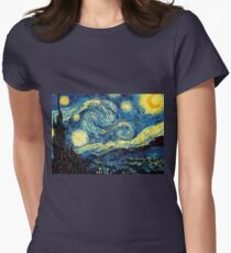 Vincent Van Gogh - Starry night  Women's Fitted T-Shirt