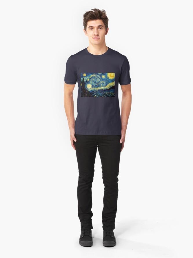 Alternative Ansicht von Vincent Van Gogh - Sternennacht Slim Fit T-Shirt