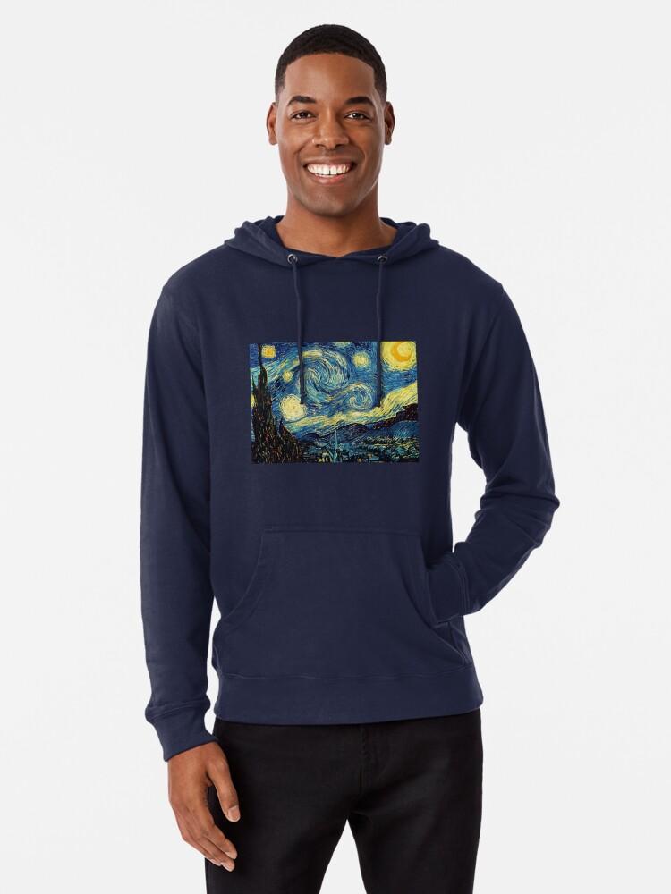 Alternative Ansicht von Vincent Van Gogh - Sternennacht Leichter Hoodie