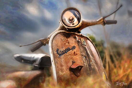 Vespa needs a home by Russell Thorne