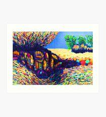 Colorful Shadows among the Rocks Art Print