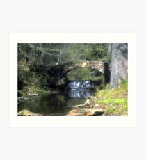 Stone Bridge in Pinhole Art Print