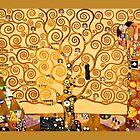 Gustav Klimt - The tree of life by Selfcontrol