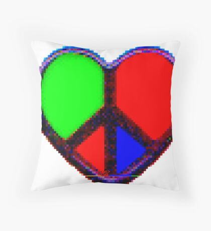 P ^ ac ^ Lov ^ by RootCat Throw Pillow