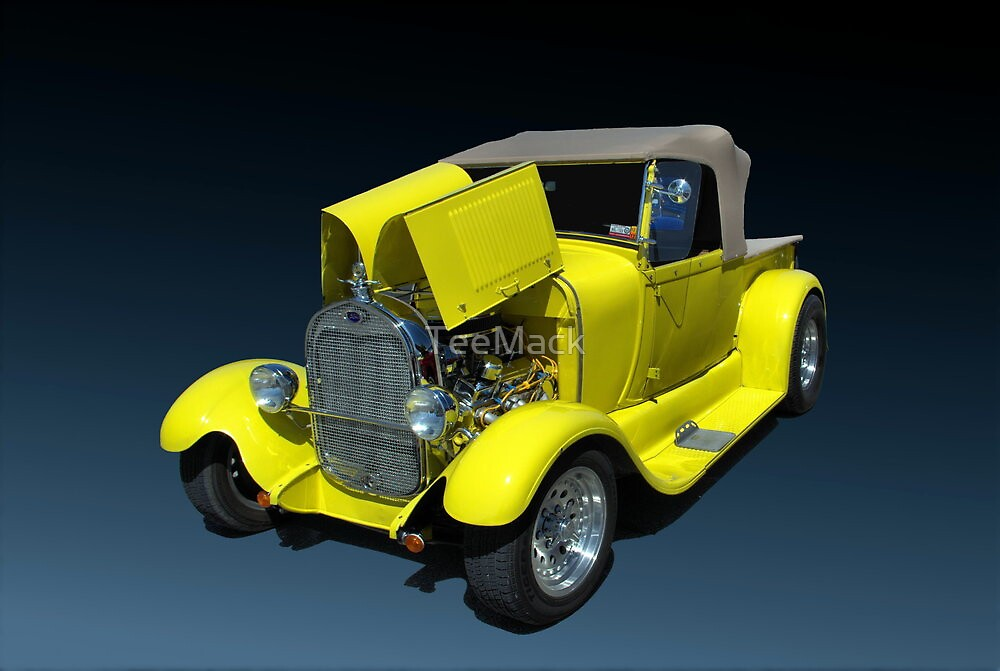 1929 Ford Model A Custom Pickup Truck by TeeMack