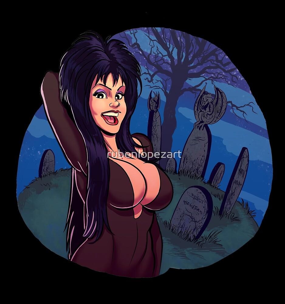 Elvira: Mistress of the Dark by rubenlopezart