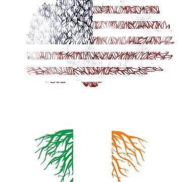 Make Irish Great Again! - Baum mit Wurzeln aus Irland, Krone aus Amerika von eCom-Media