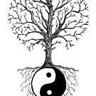 Yin Yang und Natur - Baum des Lebens von georgiamason