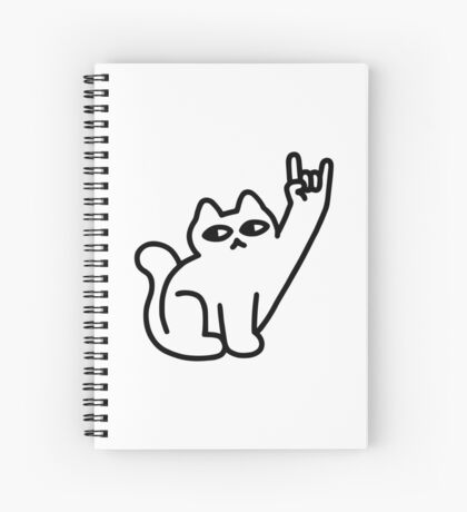 Cats Like Metal Spiral Notebook
