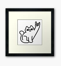 Cats Like Metal Framed Print