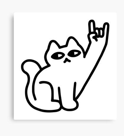 Cats Like Metal Canvas Print