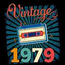 40th Birthday Retro Vintage 1979 Cool Old School Gift by SpecialtyGifts