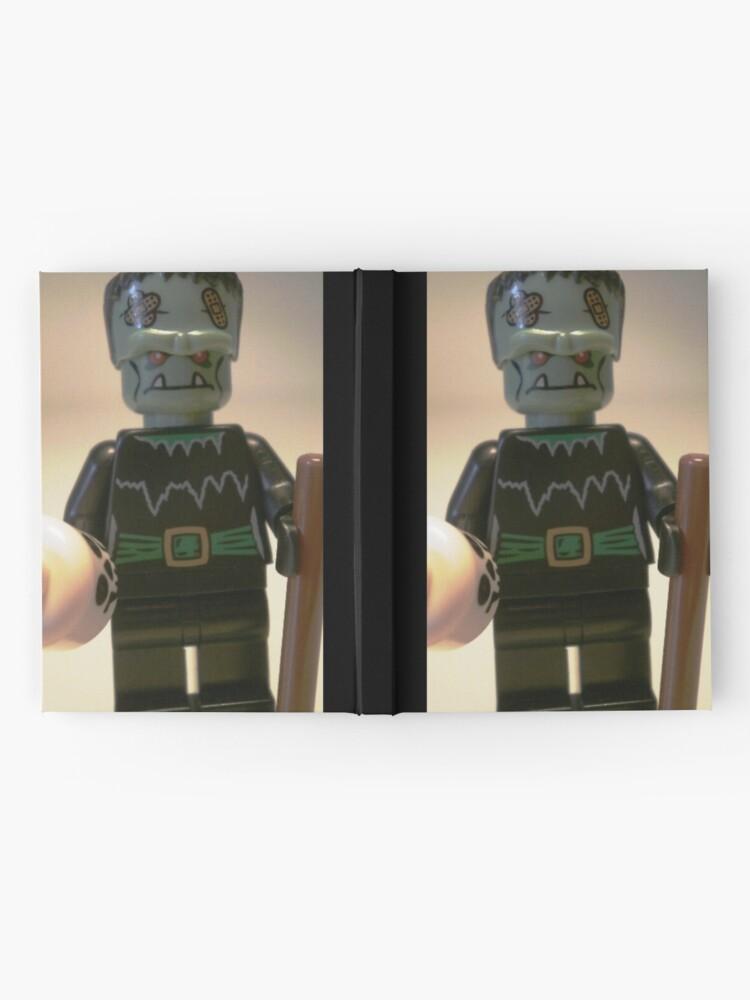 Alternative Ansicht von Frankensteins Monster Custom Minifigure with Skull Notizbuch