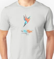 Low poly watercolor - Kingfisher Unisex T-Shirt