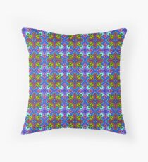 Pears and Hearts Blue Motif Pattern Throw Pillow