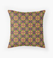 Pears and  Hearts Brown Motif Pattern Throw Pillow