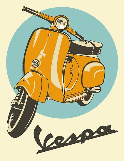 Quot Classic Vespa Quot Poster By Improveyourself Redbubble