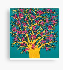 Keith Haring - Colorful tree Canvas Print
