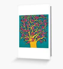 Keith Haring - Colorful tree Greeting Card