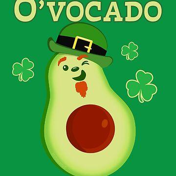 St Patrick's Day Leprechaun Avocado Pun by brodyquixote