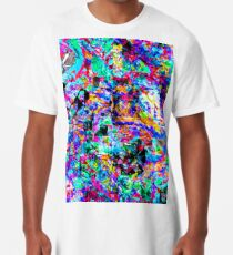 colour chaos pattern Long T-Shirt