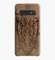 Cthulhu - Lovecraft - Old leather design Case/Skin for Samsung Galaxy