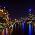 Princes Bridge View - Melbourne Victoria by Chris Kean