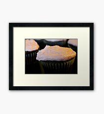 Blood Orange Chocolate Cupcakes Framed Print