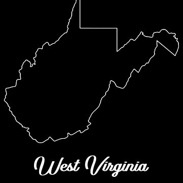 West Virginia Landkarte von ShirtNow