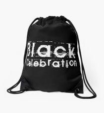 Black Celebration by Chillee Wilson Drawstring Bag
