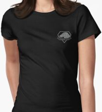 Metal Gear Solid - Diamond Dogs over Heart (Gray)  Women's Fitted T-Shirt