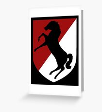 11th Armored Cavalry Regiment (US Army) Greeting Card