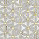 «Flor textura-oro-gris - regalo de casa» de designersara