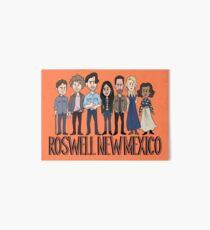 Roswell New Mexico Cast Cartoon Art Board