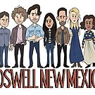 Roswell New Mexico Cast Cartoon by JenSnow