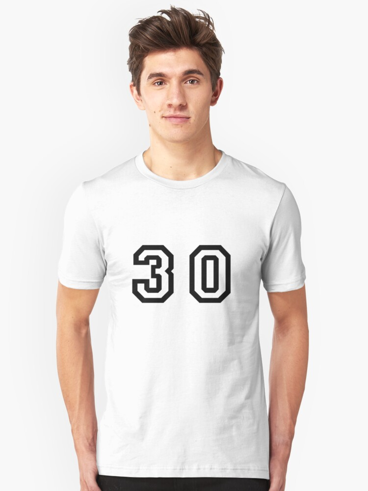 Number Thirty Unisex T-Shirt Front