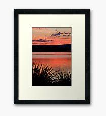 The Orange Lake Framed Print
