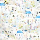 Santoroni-Aquarellmuster von ColorandColor