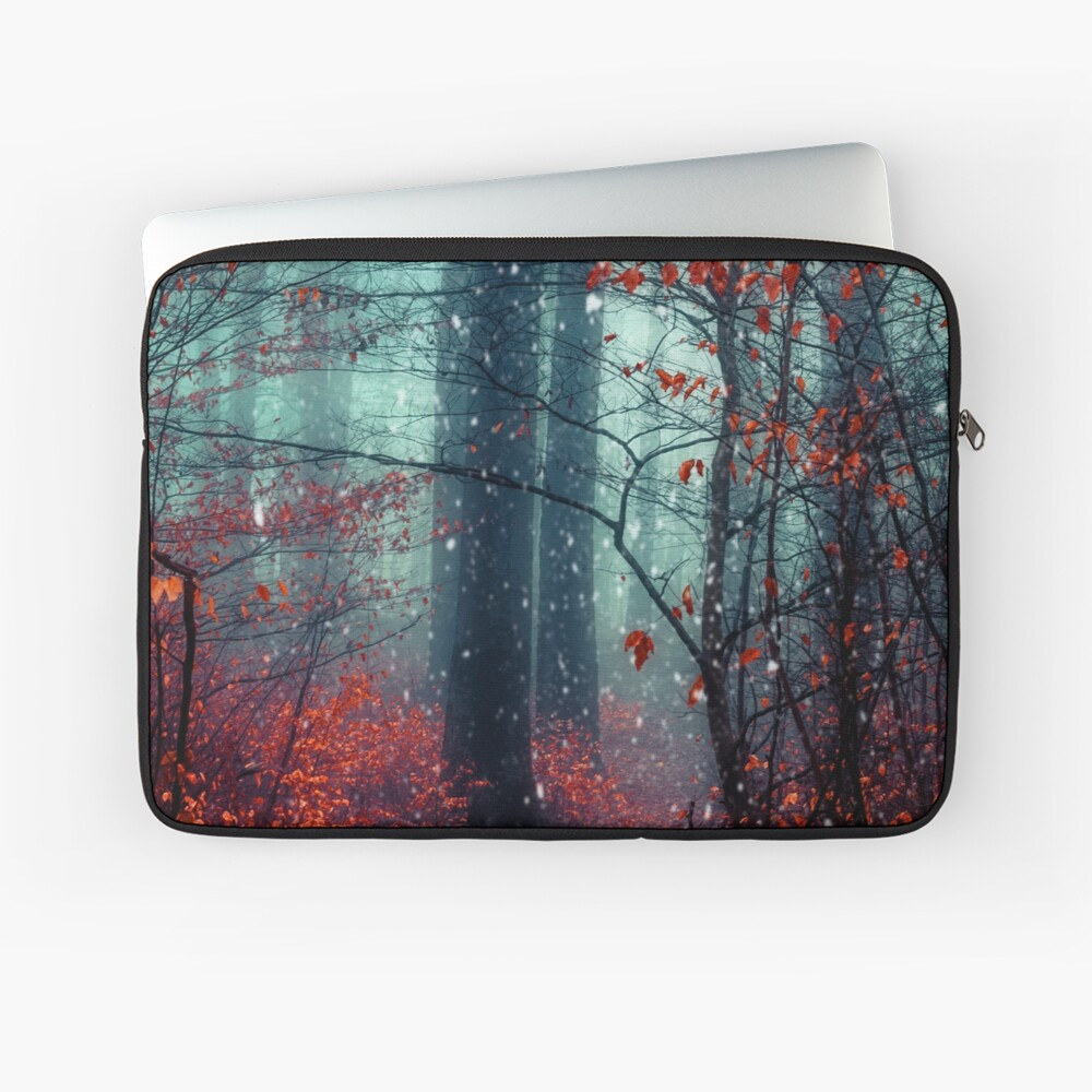 Dreaming On - Magical Forest Scene Laptop Sleeve