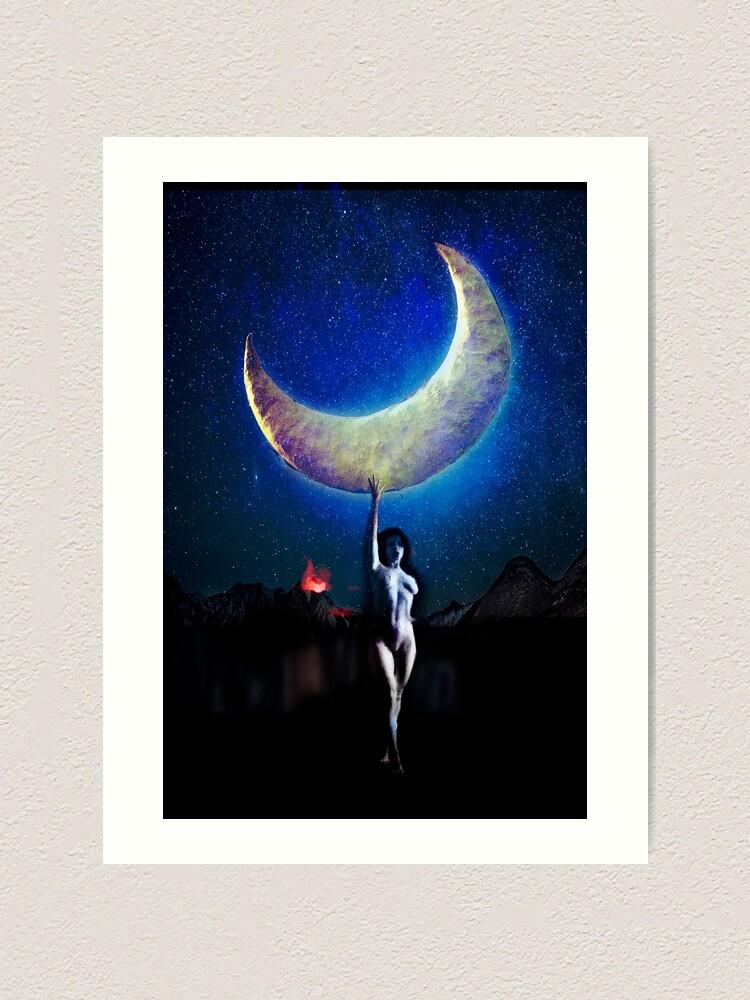 Alternate view of Moonchild Art Print
