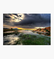 Willow Lake Wide Photographic Print
