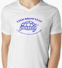 I fed Browntan the Tortoise Men's V-Neck T-Shirt
