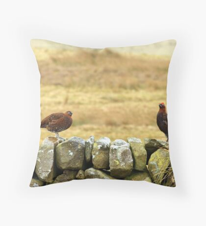 Red Grouse. Throw Pillow