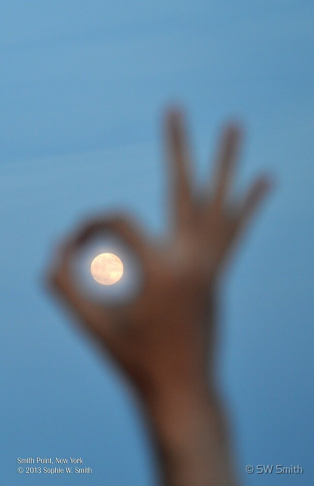 OK To The Moon | Smith Point, New York  by © Sophie W. Smith