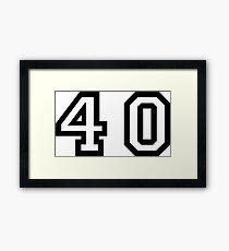 Forty Framed Print