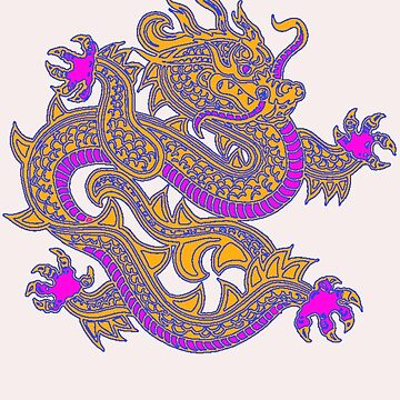 Asian Art Dragon by Zehda